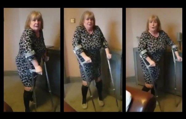 Stourbridge Grandmother On Crutches Dancing To Missy Elliot