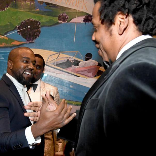 Kanye West And Jay-Z Reunite At Diddy's 50th Birthday