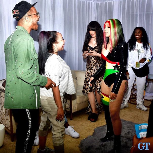Photo Of T.I. And Tiny With Cardi B In Ghana (2)