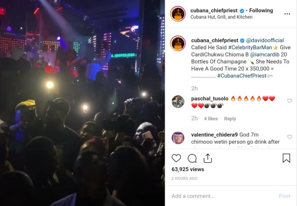 Davido Sends Cardi B Champagne Worth N7M (2)