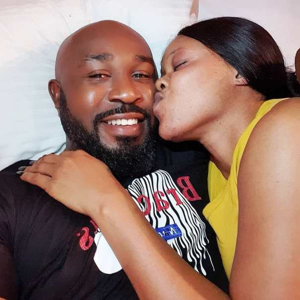 Eve Esin Gives Stanley Igboanugo A Lick On The Lip (2)