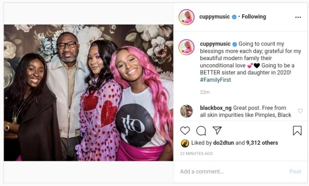 DJ Cuppy Shares Family Photo (2)