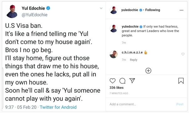 Yul Edochie Reacts To Trump's US Travel Ban On Nigeria (2)