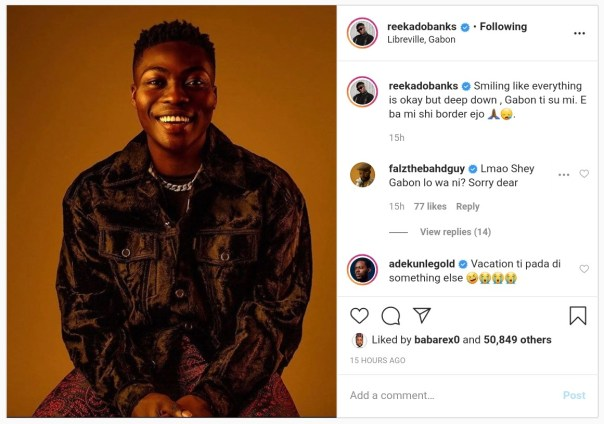 Reekado Banks Cries Out After Being Stuck In Gabon (2)
