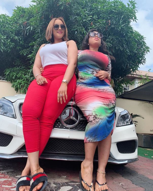 Moyo Lawal Bolanle Ninalowo Wife Bunmi Pose Together (4)