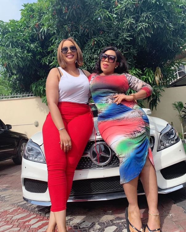 Moyo Lawal Bolanle Ninalowo Wife Bunmi Pose Together (2)