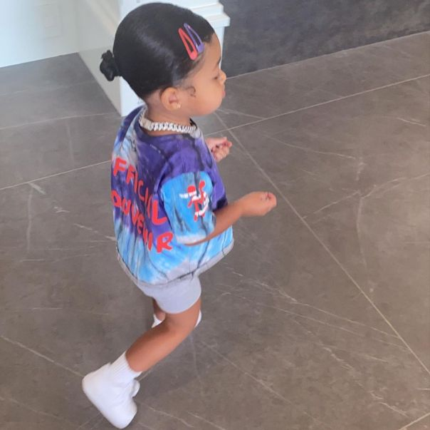 Kylie Jenner's Daughter Stormi Webster New Hairstyle (2)