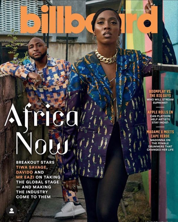 Tiwa Savage Davido Tiwa Savage Mr. Eazi Cover Billboard (2)
