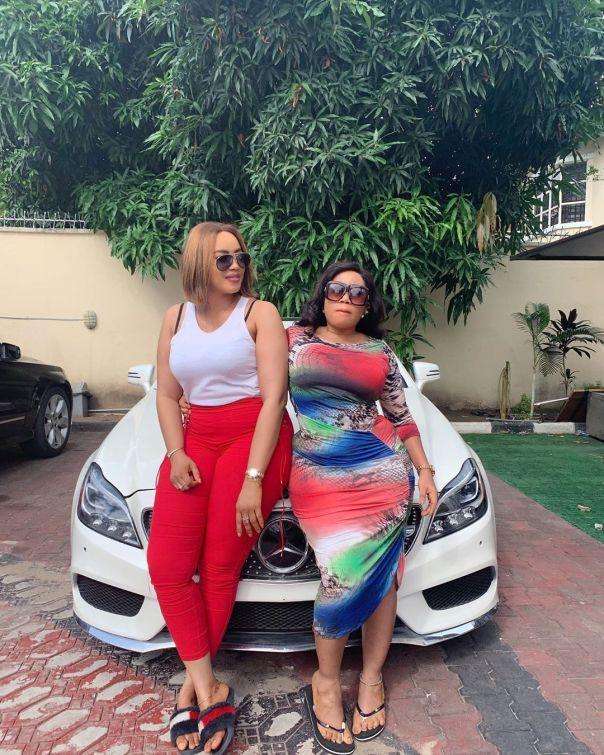 Moyo Lawal Bolanle Ninalowo Wife Bunmi Pose Together (3)