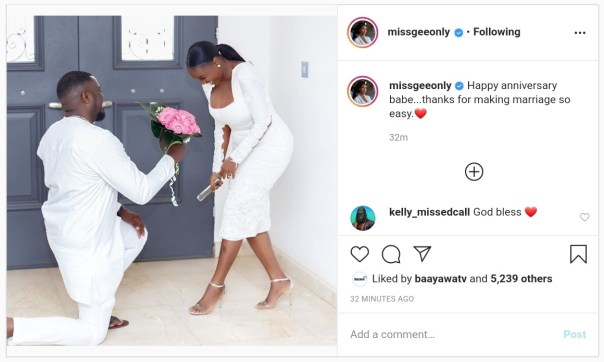 John Dumelo And Wife Gifty Mawunya Nkornu Celebrate 1st Wedding Anniversary (2)