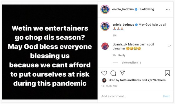 Wetin We Entertainers Go Chop This Season Eniola Badmus (2)