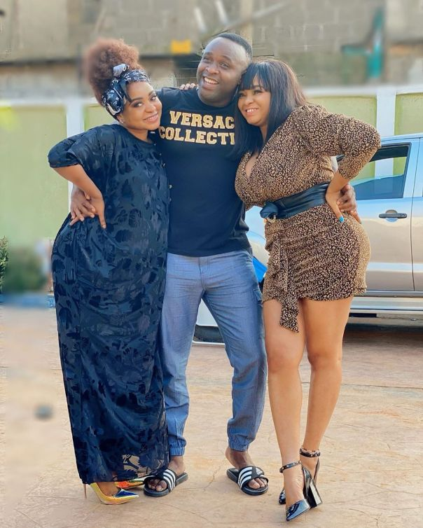 Funmi Awelewa And Femi Adebayo On Set IGBEYIN (3)
