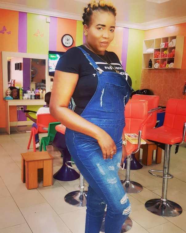 John Okafor's Wife StellaMaris Distressed Dungaree