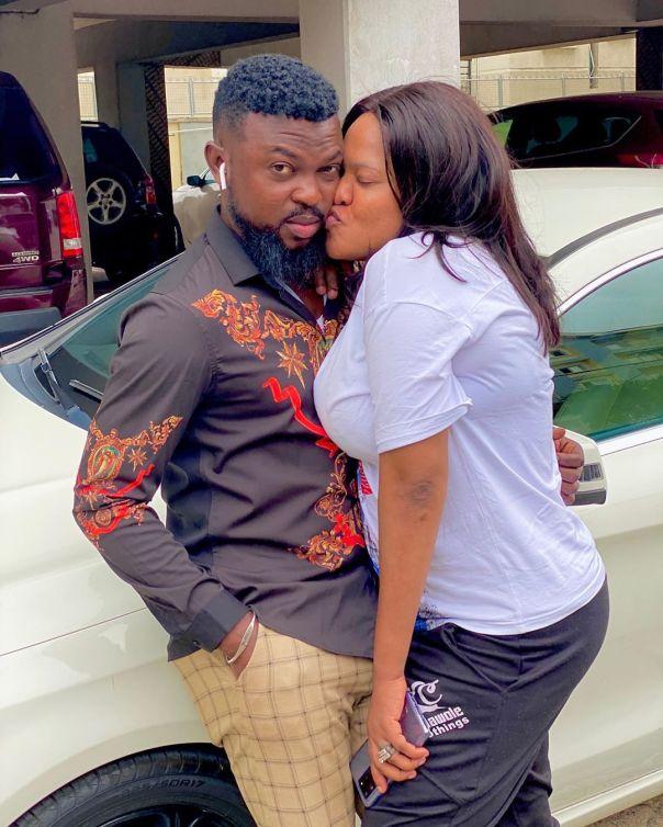 Toyin Abraham Kisses Kolawole Ajeyemi (2)