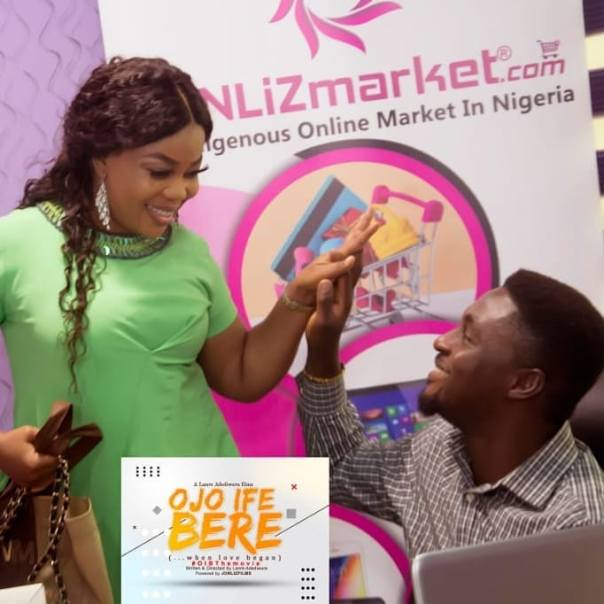 Adeniyi Johnson And Wife Seyi Edun Meet On Set OJO IFE BERE (3)