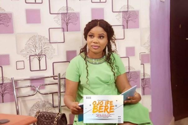 Adeniyi Johnson And Wife Seyi Edun Meet On Set OJO IFE BERE (5)
