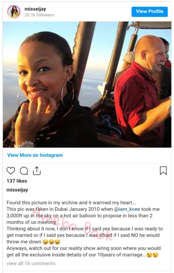 Kcee Propsed To Wife 3000ft Up Sky Hot Air Balloon Dubai (2)