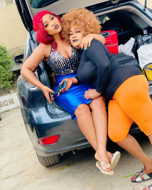 Ashewo No Be Work Mercy Aigbe On Set OGO MUSHIN (5)