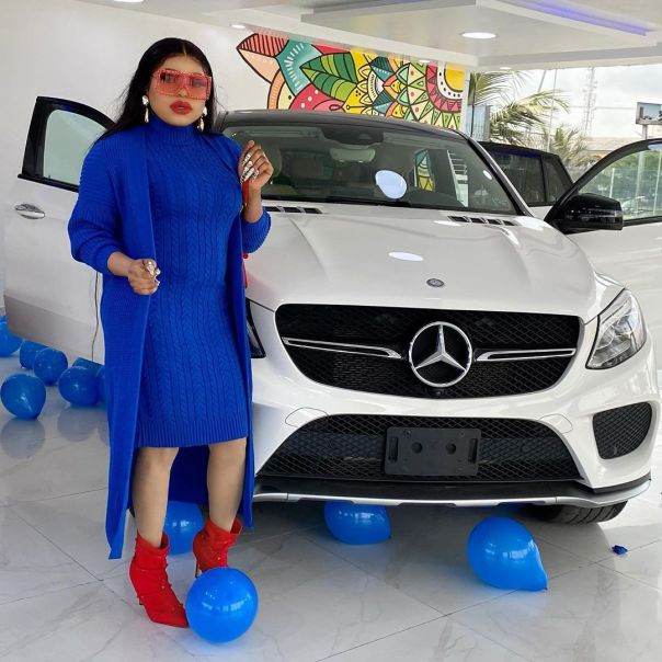 Bobrisky New Mercedes Benz Birthday Gift (2) Amebo Book