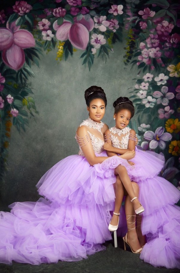 Flavour And Anna Ebiere Banner Daughter 5th Birthday (3)