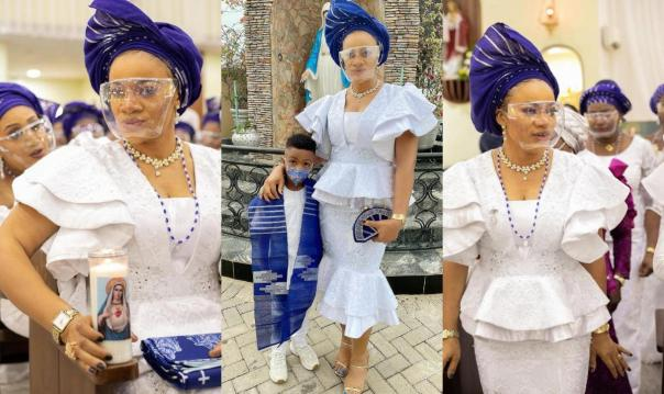 Nollywood Actress Uchenna Nnanna-Maduka Shares Photos Of Her Induction Into The Confraternity of Christain Mothers