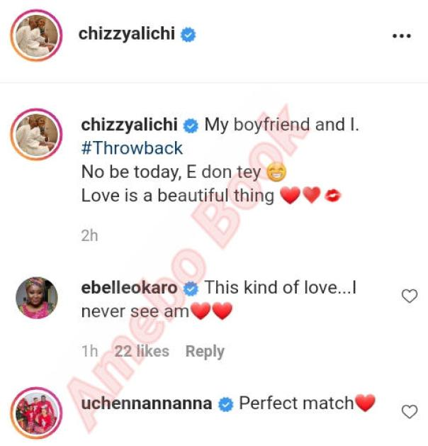 Chizzy Alichi And Husband Throwback (2)