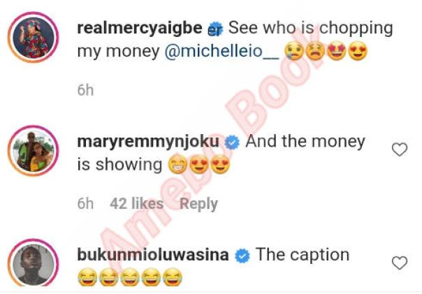 Mercy Aigbe Daughter Michelle Chopping Her Money (2)