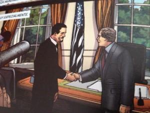 Tony Stark en el Despacho Oval
