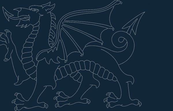 Welsh Dragon dxf file