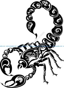 Scorpion pattern flowers