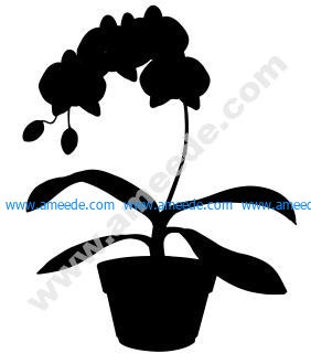 House Plant 5 dxf file