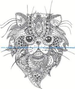 lion head pattern
