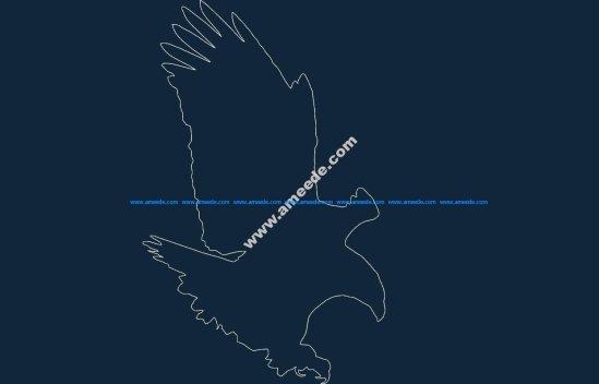 Bald Eagle dxf file