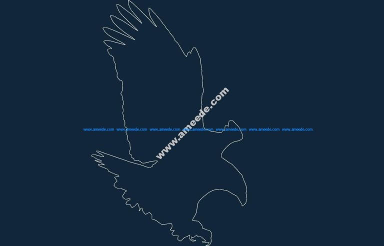 Bald Eagle dxf file