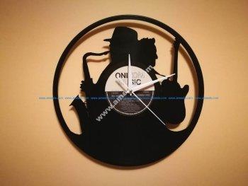 Orologio Vinile Clock Sax Chitarra