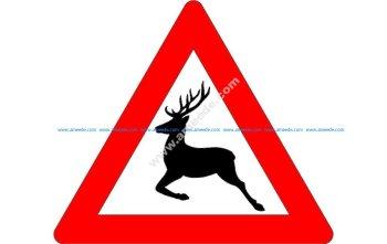 Deer crossing sig