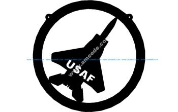 F-15 In Circle