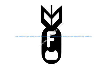 F Bomb Bottel Opener 2 X 5.4 Fixed