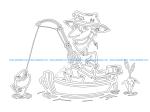 Fish Fisherman in boat