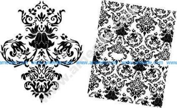 Free Baroque Floral Vector Pattern
