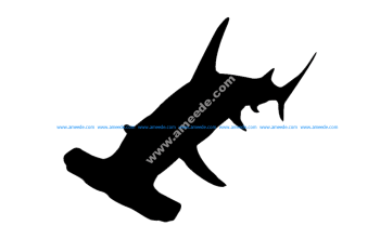 Hammer Head Shark Silhouette