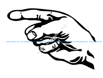 Hand With Pointing Finger 2