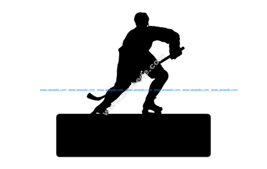 Hockey Player With Name Plate