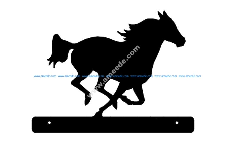 Horse Running Plate
