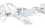 P51 Mustang Silhouette Aircraft