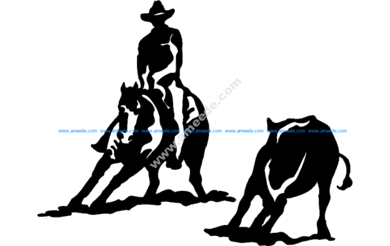 Rodeo Silhouette 2