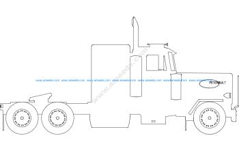 Silhouette of Peterbilt Truck