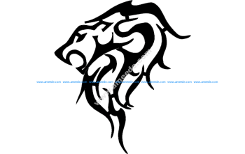 Trible Lion 9.3×8 Dxf Give Out