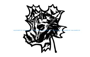 Wolf Oak Leaf
