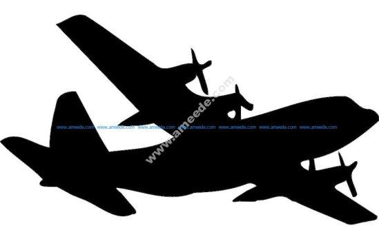 Planes C-130 Silhouette